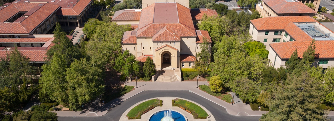 Aerial view of Stanford University